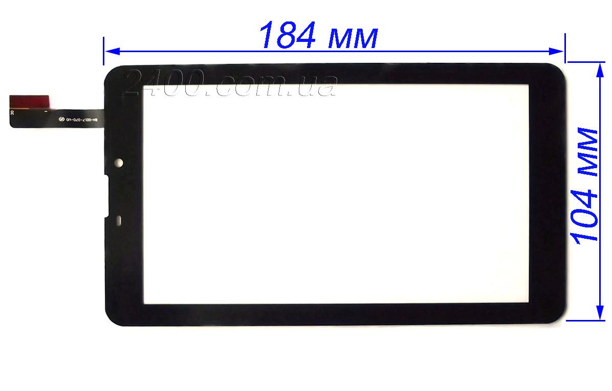 Тачскрин, сенсор планшета Nomi C07001 (черный) 184*104 мм Nomi C07002/C07003