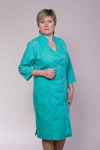 Медицинский женский халат бирюза