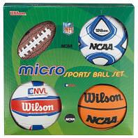 Набор из 4-Х Мини-Мячей Wilson Micro Sports 4Ball Kit (X0544)