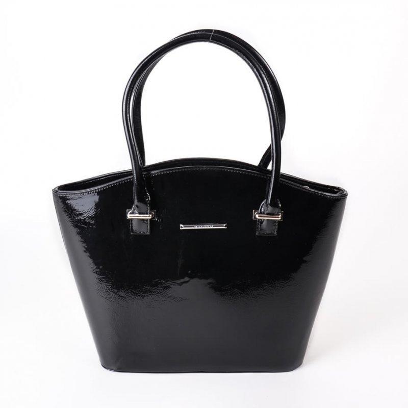 8dc6d8cc72fa Женская деловая лаковая сумка из кожзама М64-лак чорн./Z, цена 465 ...