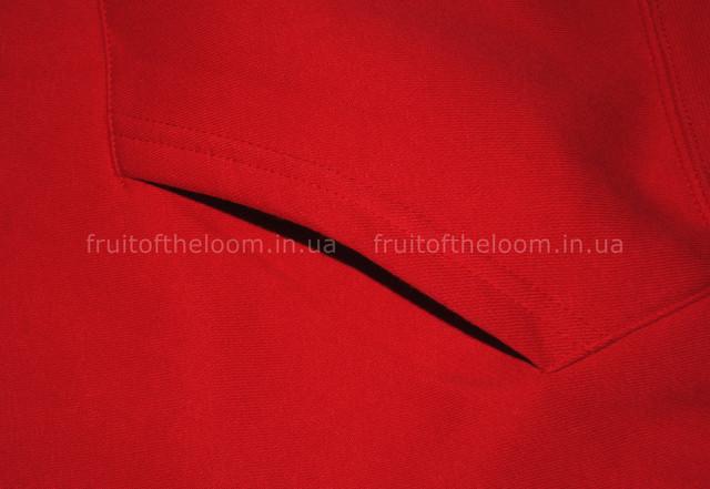 Красная мужская премиум толстовка с капюшоном на замке