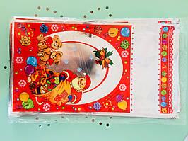 Пакет фольгированный новогодний 20*35
