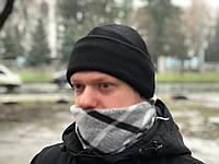 Флисовая шапка Polar Watch Cap двухслойная (черная)