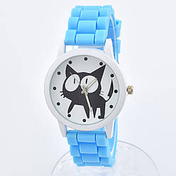 Часы G-049 диаметр циферблата 4 см, длина ремешка 17-22 см, голубой цвет