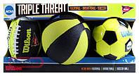 Набор из 3-Х Мини-Мячей Wilson Ncaa Triple Threat Kit (WTX0754ID)