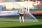 Автоматический полив и футбольное поле
