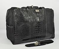Дорожная сумка, саквояж Refiand 88723 A черный кроко, фото 1