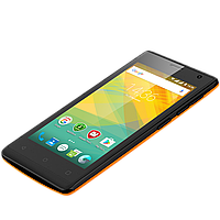 Удобный компактный смартфон на 2 сим карты 4,5 дюйма 4 ядра 0,5/4Gb Prestigio Wize OK3 оранжевый, фото 1