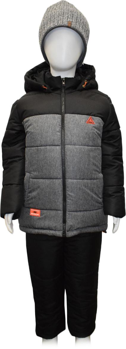 Костюм зимний для мальчика (куртка + полукомбинезон) размер 86