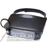 Лупа бинокулярная Magnifier 81006 (1,5Х3Х6,5Х8Х) кратное увеличение