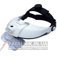 Бинокулярная лупа с LED подсветкой 1X — 6X увеличения Magnifier 81001-H