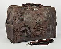 Дорожная сумка, саквояж Refiand 88723 AА коричный кроко