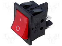 Переключатель клавишный R2101C5GBR9NWC (RSI2013C3RD rocker) красный с неоновой лампочкой