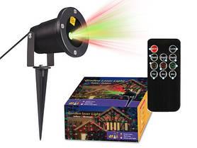 Лазерный проектор - 2 цвета (міні-лазерна установка) - Laser Garden Light + пульт.
