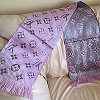 Теплый вязаный шарф Louis Vuitton с люрексом, 2017