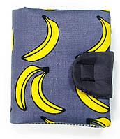 Женский удобный кошелек с узором бананы TwinsStore К6, синий
