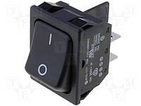 Переключатель клавишный RS13117ABB2 (rocker) черный ON-OFF