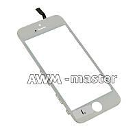 Сенсорное стекло на рамке Apple iPhone 5S белый H/C