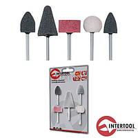 Intertool BT-0015 Набор шлифовальных камней 5шт