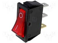 Переключатель клавишный RSI1013C3RD (Rocker) с подсветкой ON-OFF красный /NINIGI/