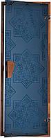 """Дверь для хамама (турецкой бани) """"СЕЗАМ Blue"""", фото 1"""