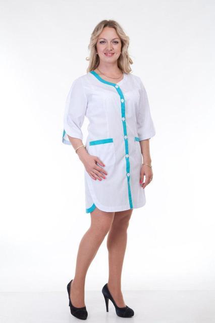 Медицинский халат с окантовкой