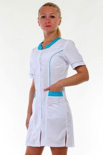 Медицинский халат с вставками