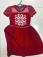 Красное вязаное платье от Ralph Lauren