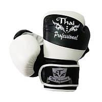 Боксерские перчатки Thai Professional BG7 Black-White