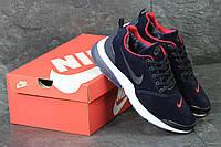 Кроссовки Nike Air Presto мужские зимние (синие с красными вставками), ТОП-реплика, фото 1