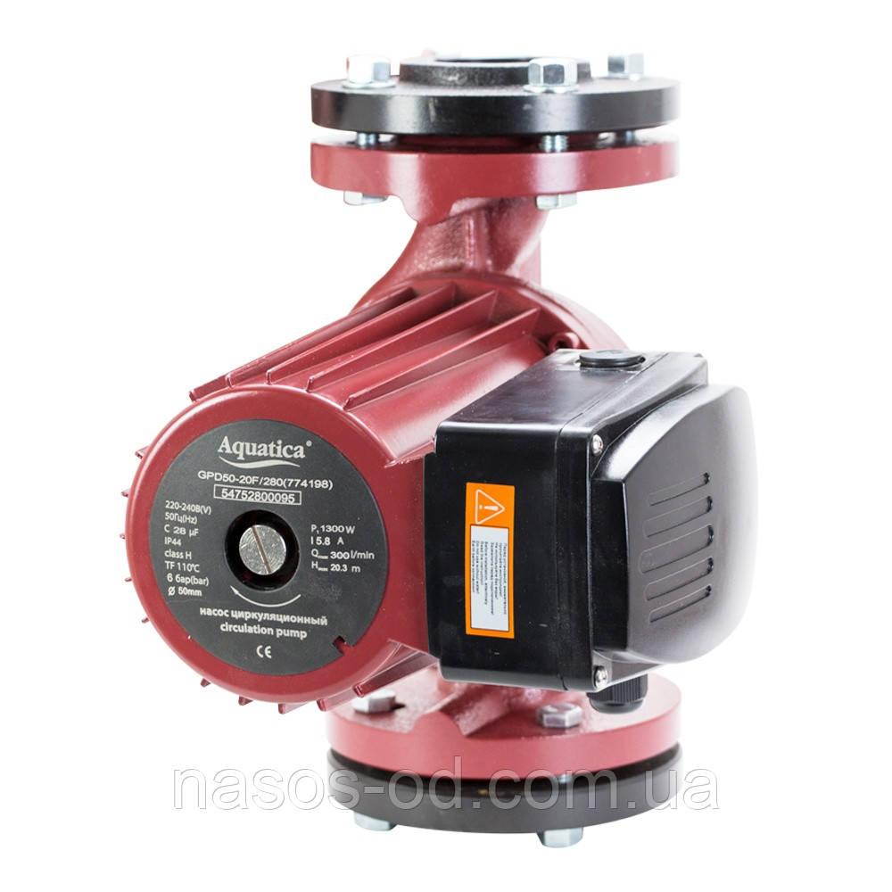 Циркуляционный насос для системы отопления фланцевый 1.3кВт Hmax16.3м Qmax330л/мин DN50 280мм+ответный фланец