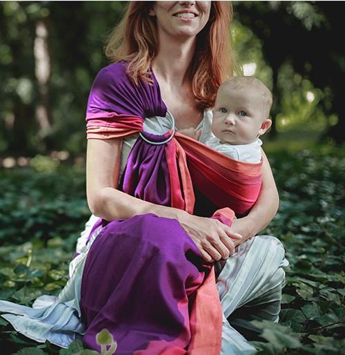 Cлинг с кольцами LUNA DREAM Purple Love Bamboo (40 % бамбука), фото 1