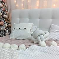 Декоративная подушка узел, молочная