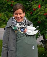Cлингонакидка/спальник Multi Babywearing Cover/Footmuff Stormcloud/Glacier Gray MAM (оливковый), фото 1