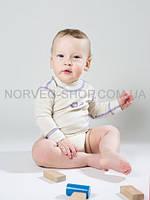 Боди детское с длинным рукавом Soft NORVEG (молочное, размер 56/62), фото 1