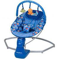 Шезлонг качалка детский музыкальный Bambi S 003. Для новорожденных малышей. Отличное качество. Код: КГ2586