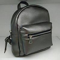 Супермини рюкзак из экокожи металлик , фото 1