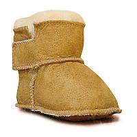 Детские ботинки на овчине HOPPEDIZ, бежевый