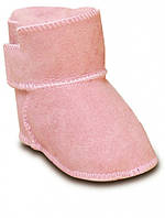 Детские ботинки на овчине HOPPEDIZ (размер 18-19, розовый)