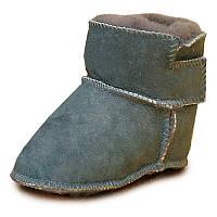 Детские ботинки на овчине HOPPEDIZ (размер 18-19, серый)