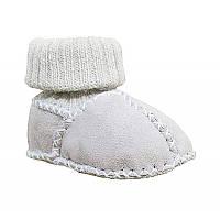 Детские ботинки на овчине с вязаным верхом HOPPEDIZ (размер 16-17, натур)