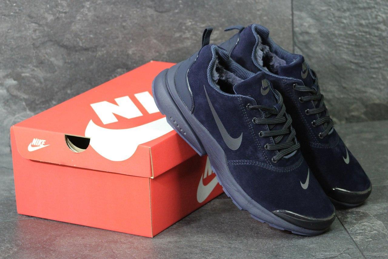Кроссовки Nike Air Presto мужские зимние (синие), ТОП-реплика
