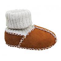Детские ботинки с вязаным верхом HOPPEDIZ (размер 22-23, коричневый)