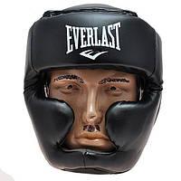 Шлем боксерский закрытый Everlast Flex (черный, S-XL)