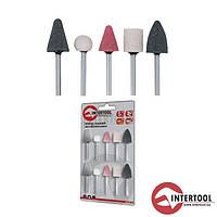 Intertool BT-0020 Набор шлифовальных камней 10шт