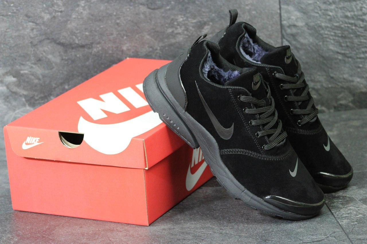 Кроссовки Nike Air Presto мужские зимние (черные), ТОП-реплика