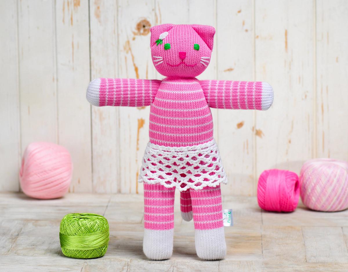 Вязаная кукла «Кошка Алиса» ФРЕЯ