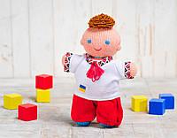Вязаная кукла «Мальчик Козачок» (красно-белый) ФРЕЯ