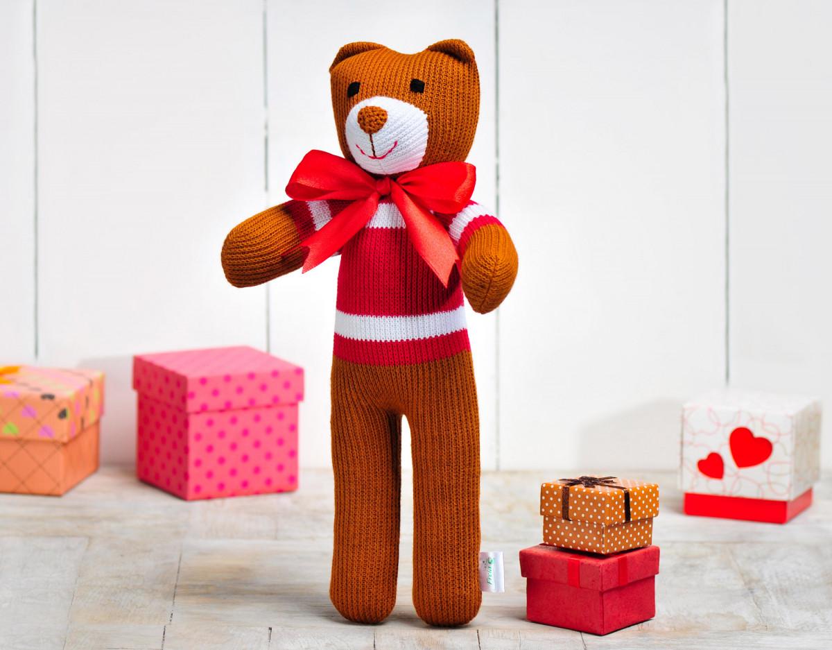 Вязаная кукла медведь «Михаил Потапович» ФРЕЯ
