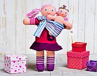 Вязаный набор кукол слингомама «Малинка в слинге» ФРЕЯ